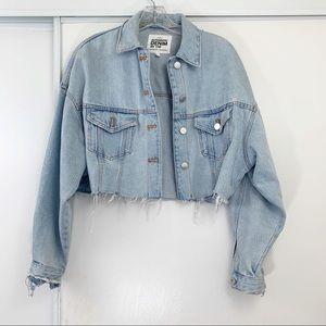Zara Cropped Denim Jacket